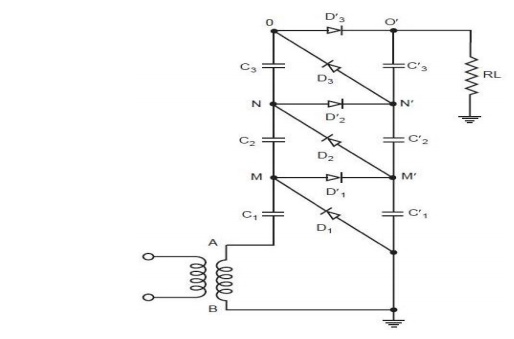 Cockroft Walton Voltage Multiplier Circuit - Generation of High Voltages and Currents
