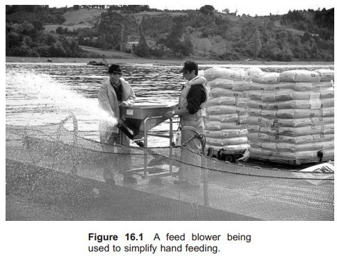 Feed blowers - feeding equipment in Aquaculture