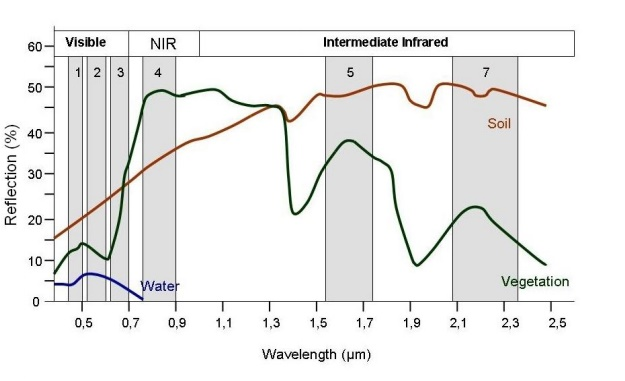 Spectral Signature Concepts Typical Spectral Reflectance Charactristics Of Water, Vegetation And Soil