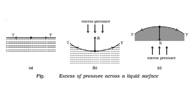 Pressure difference and pressure inside a liquid drop and a soap bubble