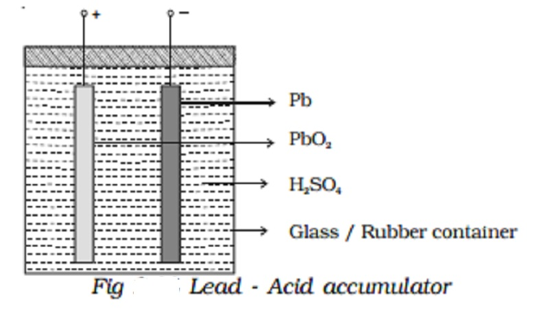 Secondary Cells - Lead - Acid accumulator  - Applications of secondary cells