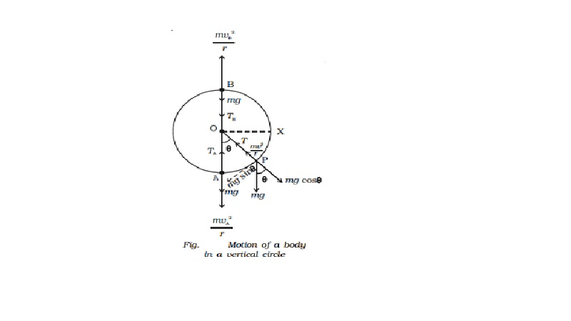Motion in a vertical circle